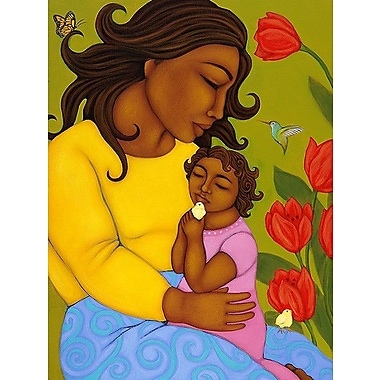 Printfinders Mother and Child by Tamara Adams Painting Print on Canvas; 24'' x 18''