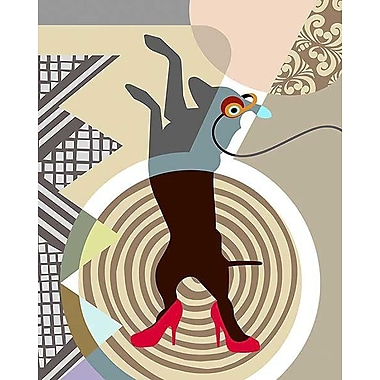 Printfinders Doggy Dance by Lanre Adefioye Graphic Art on Canvas; 30'' x 24''