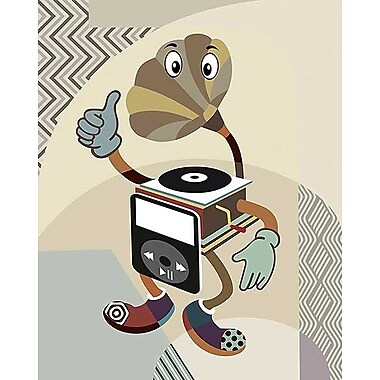 Printfinders Retro Music Playlist I by Lanre Adefioye Graphic Art on Canvas; 30'' x 24''