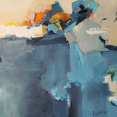 Printfinders Dizzy at the Edge by Lina Alattar Painting Print on Canvas; 16'' x 16''
