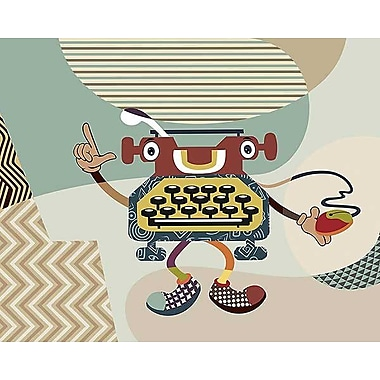 Printfinders Retro Typewriter I by Lanre Adefioye Graphic Art on Canvas; 24'' x 30''