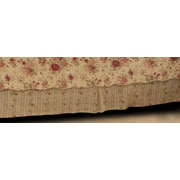 Greenland Home Fashions Antique Rose 136 Thread Count Bed Skirt; Full