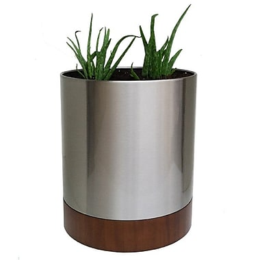 NMN Designs Knox Stainless Steel Pot Planter; Small