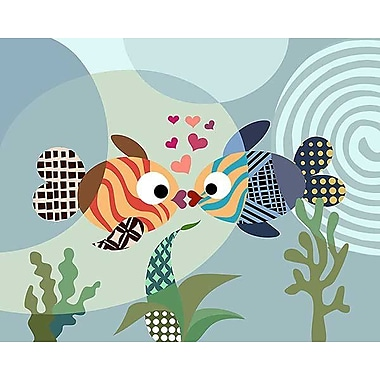 Printfinders Love Fish by Lanre Adefioye Graphic Art on Canvas; 16'' x 20''