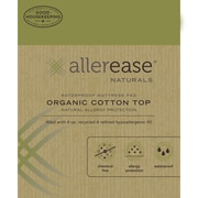 AllerEase Naturals Organic Cotton Waterproof Mattress Pad; Queen