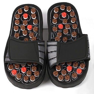 Deluxe Comfort Reflexology Rotating Massage Head Sandal; Small