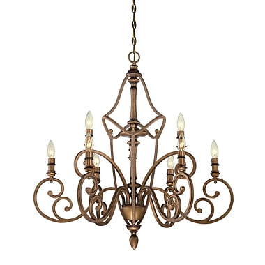 Designers Fountain Isla 9-Light Candle-Style Chandelier