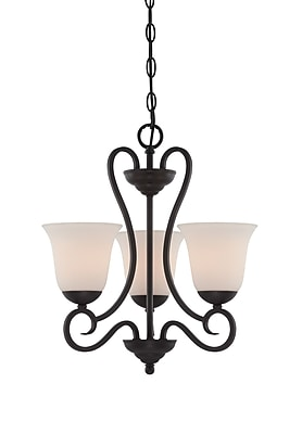 Designers Fountain Addison 3-Light Shaded Chandelier