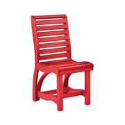 CR Plastic Products St Tropez Dining Side Chair; Red