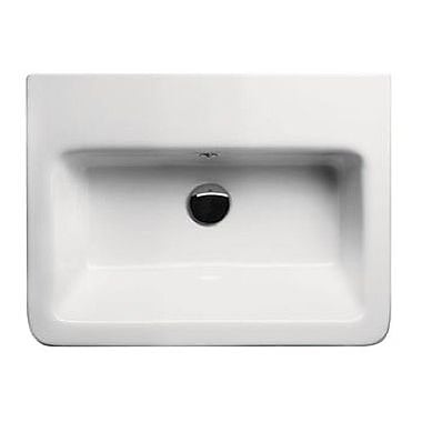 GSI Collection City Ceramic Rectangular Drop-In Bathroom Sink w/ Overflow; Single Hole
