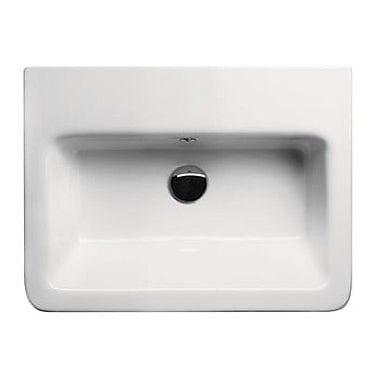 GSI Collection City Ceramic Rectangular Drop-In Bathroom Sink w/ Overflow; 8'' Centers