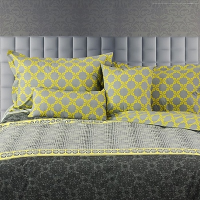 LJ Home Laurel Line 5 Piece Reversible Duvet Cover Set; King