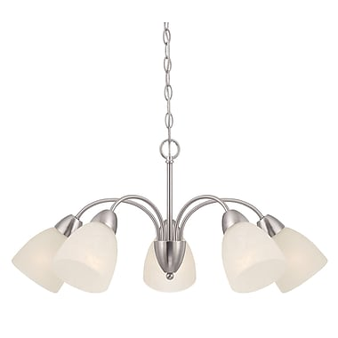 Designers Fountain Torino 5-Light Shaded Chandelier; Brushed Nickel