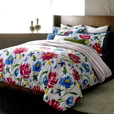 LJ Home Piccadilly 3 Piece Reversible Duvet Set; Queen