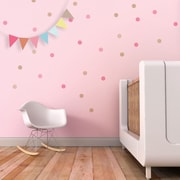 Trendy Peas Confetti Wall Decal; Pink / Beige