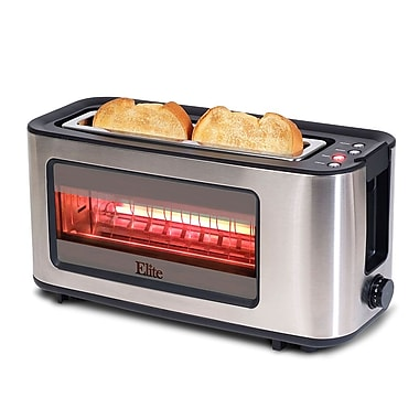 Elite by Maxi-Matic 2 Slice Toaster w/ See Through Glass Window