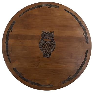 Thirstystone Owl Bamboo Lazy Susan