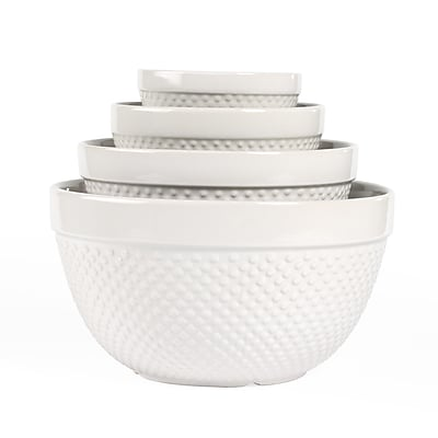 Tabletops Gallery 4 Piece Hobnail Mixing Bowl