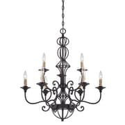Designers Fountain Tangier 9-Light Candle-Style Chandelier