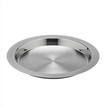 Kraftware Groove 16'' Polished Round Serving Tray