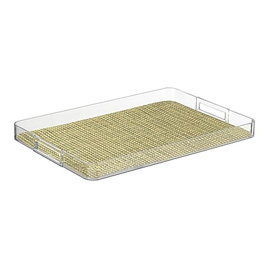 Kraftware Woven 19'' Handled Rectangle Serving Tray; Verde