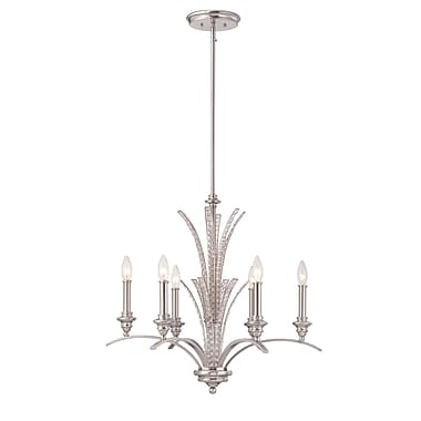 Designers Fountain Grand Plazza 6-Light Candle-Style Chandelier