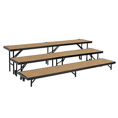 National Public Seating RT3LHB Portable Risers