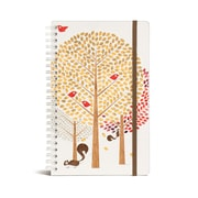 "Bookjigs Hard-cover Spiral-Bound Notebook, 8"" x 5"", Ahhh Nuts"