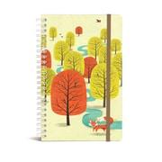 "Bookjigs Hard-cover Spiral-Bound Notebook, 8"" x 5"", White Socks"