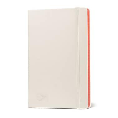 Miro Medium Ruled Journal Hardcover Premium Notebook, White/Red Gilded Edges