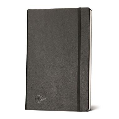 Miro Large Plain Journal Series Hardcover Premium Notebook, Black/Plain Gilded Edges