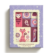 """Bookjigs Magnet Set With Magnetic Closure, 4.6"""" x 3.6"""" x 0.8"""", Nature's Friends"""