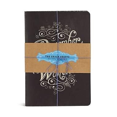 Bookjigs Medium Utility Chalk Shoppe Stitched Notebook, 8