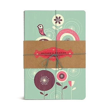 Bookjigs Medium Utility Nature's Friends Stitched Notebook, 8