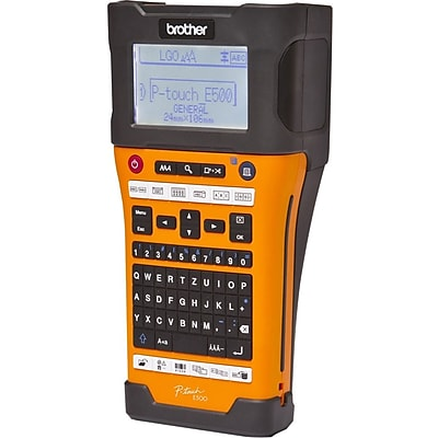 Brother P-Touch PT-E500 Industrial Portable Handheld Labeling Tool