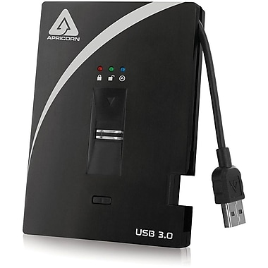 Apricorn 1TB External USB 3.0 Hard Drive With AES-XTS Hardware Encryption (Black)