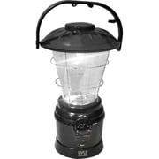 Pyle® Multi Function Hand Crank Torch Lantern With AM/FM Radio, Black