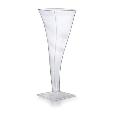 Fineline Settings Wavetrends 1205 Wavey Square Champagne Flute, Clear