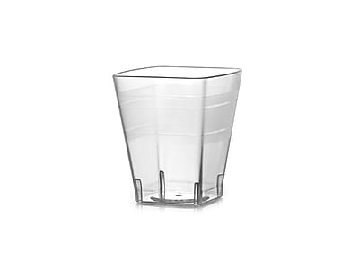 Fineline Settings Wavetrends 1102 Square Shot Glass, Clear
