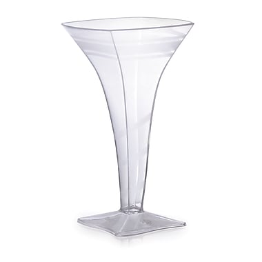 Fineline Settings Wavetrends 1209 Wavey Square Martini Glass, Clear
