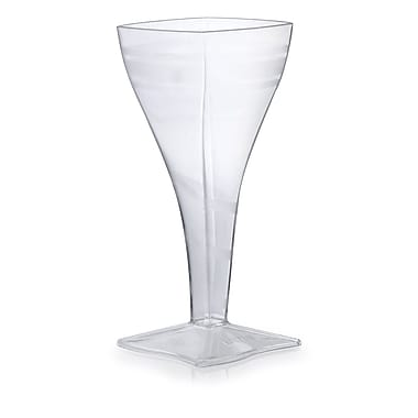 Fineline Settings Wavetrends 1208 Wavey Square Wine Glass, Clear