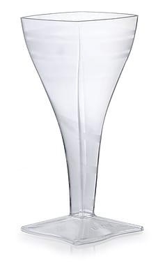 Fineline Settings Wavetrends 1208 Wavey Square Wine Glass, Clear