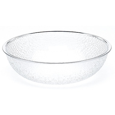Cambro PSB15-176 Pebbled Salad Bowl 11.2 qt Salad Bowl in Clear Polycarbonate