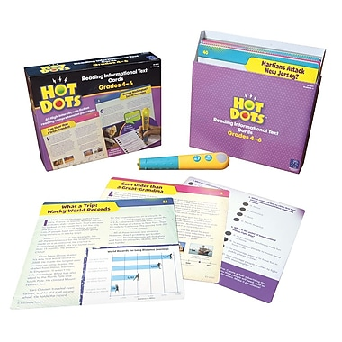 Educational Insights® Hot Dots® Reading Informational Text Card Set, Grade 4 - 6