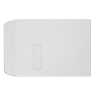 LUX 9 x 12 Open End Window Envelopes, White Linen, 250/Box (1590-WLI-250)