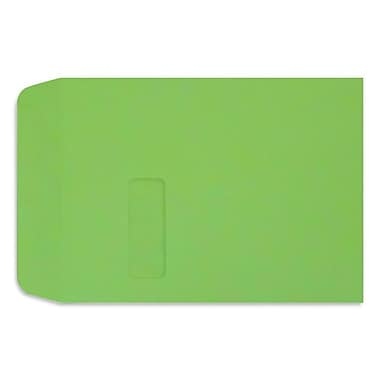 LUX Peel & Press 9 x 12 Open End Window Envelopes 500/Pack, Limelight Green (LUX1590101-500)