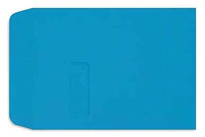 LUX 9 x 12 Open End Window Envelopes 250/box, Pool (LUX1590102-250)