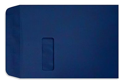 LUX Peel & Press 9 x 12 Open End Window Envelopes 250/Pack, Navy Blue (LUX1590103-250)