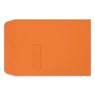 LUX 9 x 12 Open End Window Envelopes, Mandarin, 500/Box (LUX-1590-11-500)