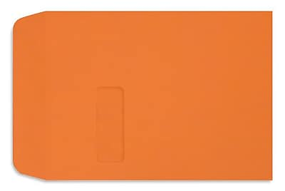 LUX Peel & Press 9 x 12 Open End Window Envelopes 1000/Pack, Mandarin Orange (LUX-1590-11-1M)